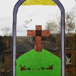 Image for the Tweet beginning: Stunning Easter themed stained glass