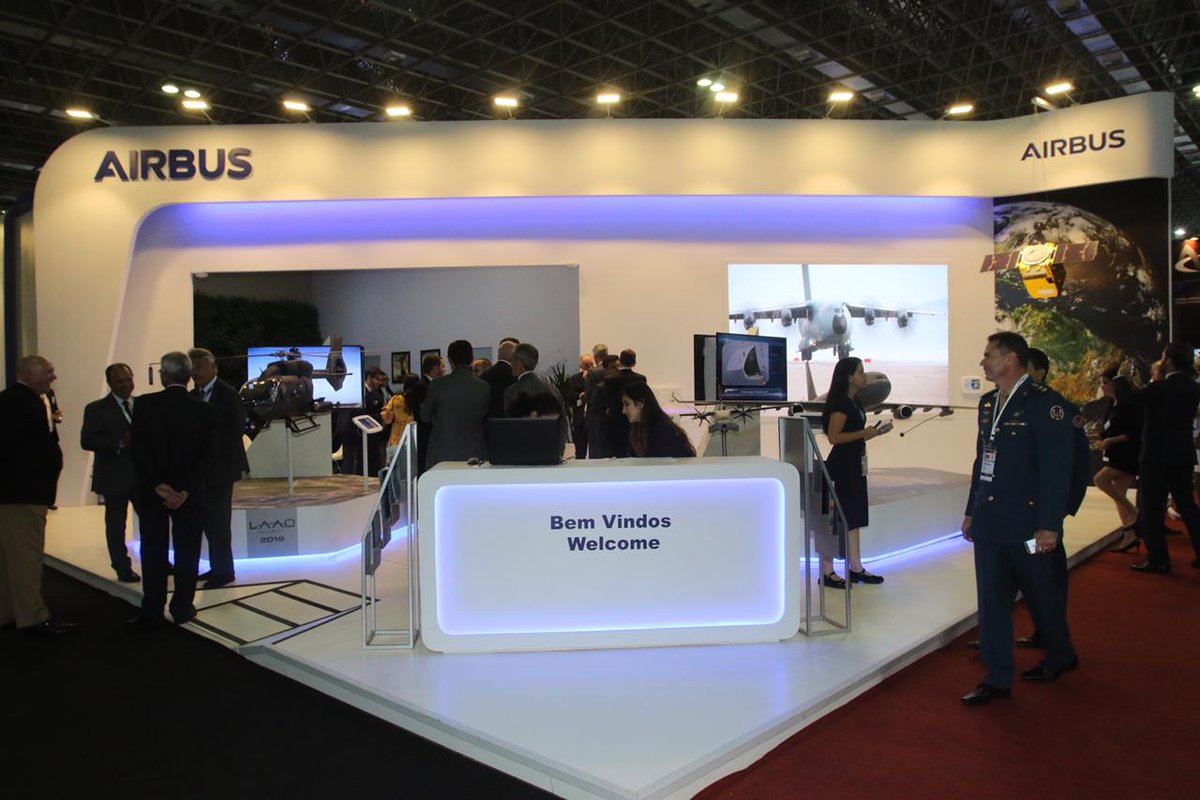 Airbus currently displays key products and technologies at #LAAD2019 one of Latin America's most important trade shows for Defence & Security.  Meet the teams at stand in n°H50 Hall 3. https://www.airbus.com/newsroom/press-releases/en/2019/04/airbus-and-helibras-arrive-in-rio-for-laad-2019-to-reinforce-their-commitment-to-latin-america.html …