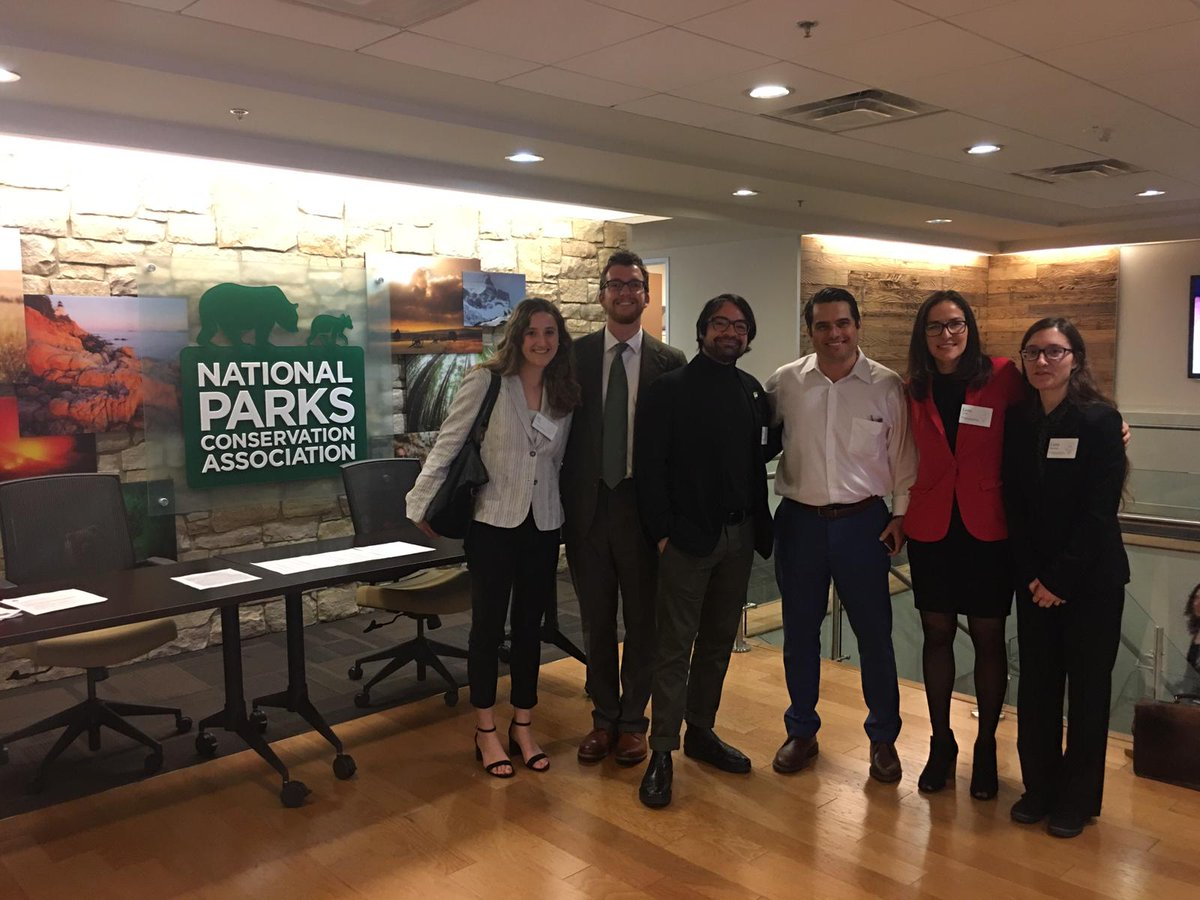 Students visited @NPCA during #fesindc, meeting with @YaleFES Alumnus Ryan Valdez and team.  Thank you to NPCA and Ryan for hosting our visit, and for hosting our annual spring #DC Alumni/Student Networking Reception!  @YaleBlueGreen