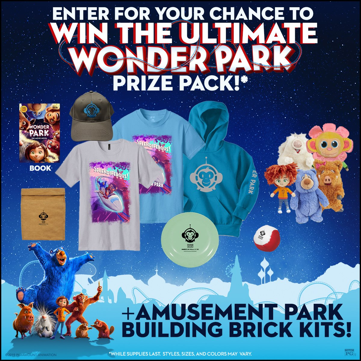 Enter to win our @WonderParkMovie prize pack! 🎢🎡 The lucky winner will be announced tomorrow. RT & follow now. 😃   See #WonderPark this weekend: http://amc.film/2HOmzp4