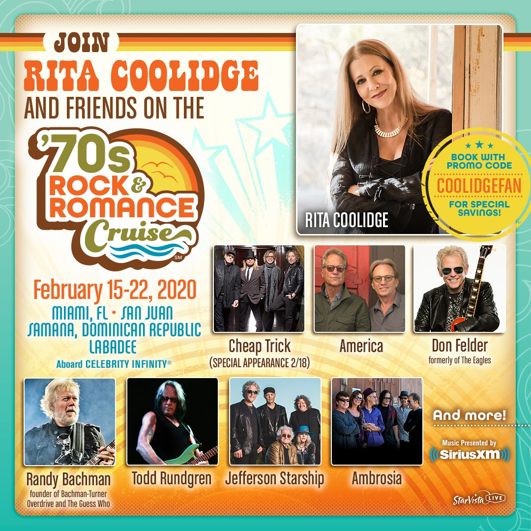 Rock And Romance Cruise 2020.Rita Coolidge On Twitter I M So Excited To Announce That I