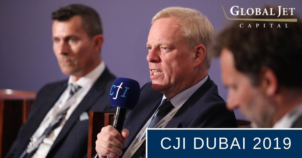 Global Jet Capital's Simon Davies has been keeping very busy in India and the Middle East. Here he is in action at the 2019 @CorpJetInvestor Dubai conference this past Monday. #bizav #aviation