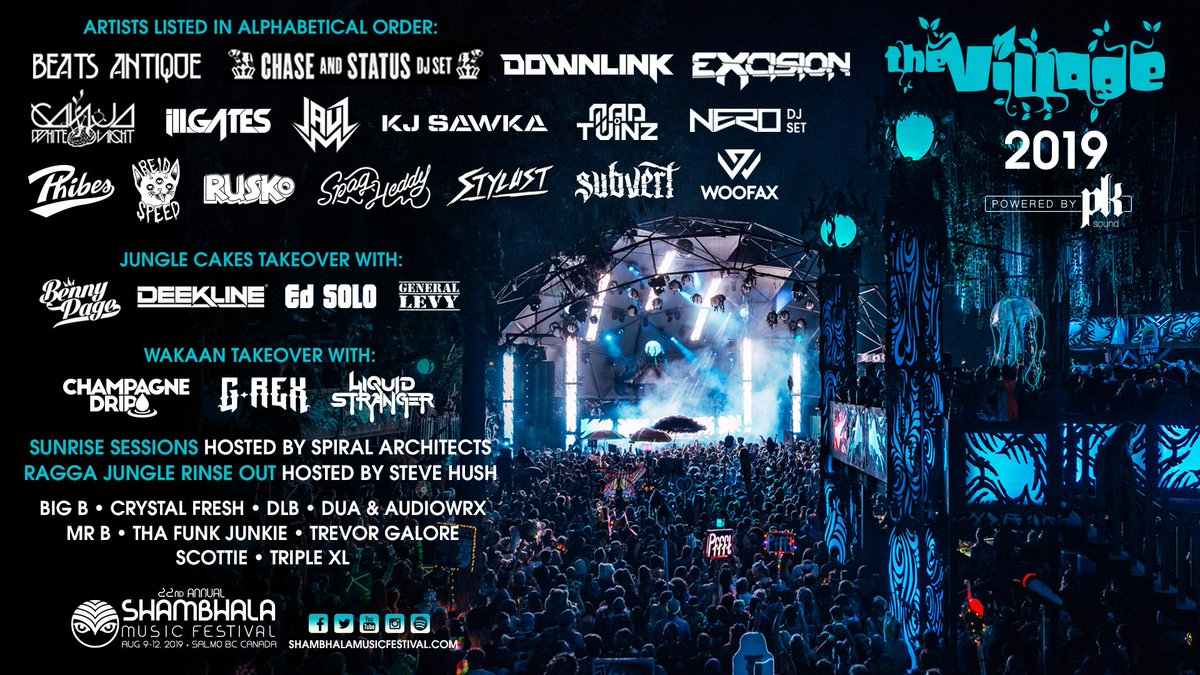 Shambhala Music Festival lineup