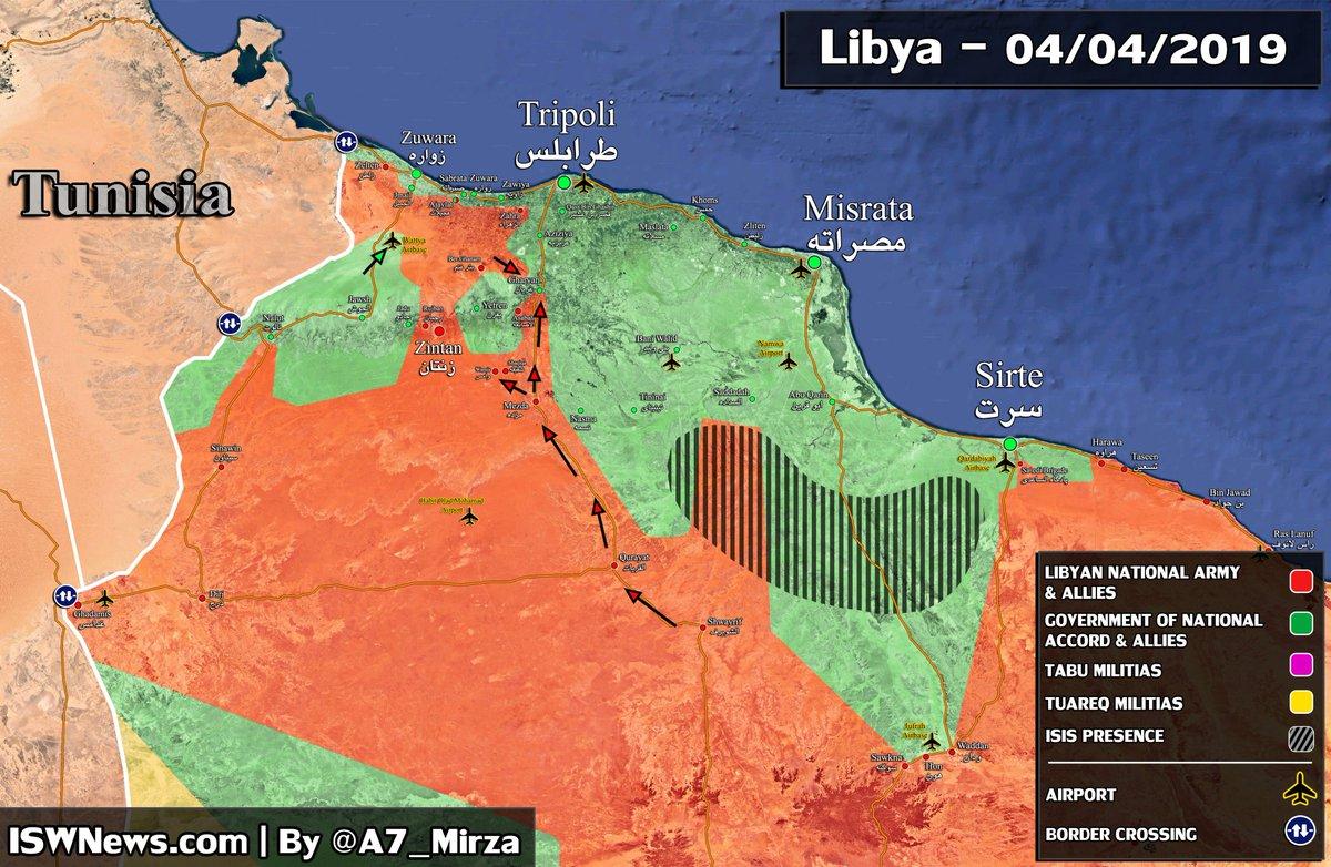 Наступление на Триполи. 04.04.2019