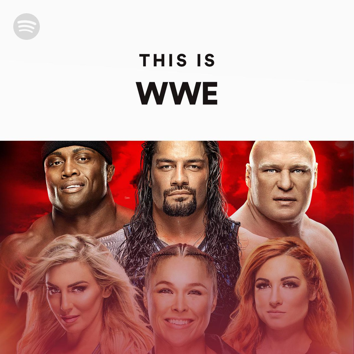 Before we go live from New York, @WWEMusic goes live on @Spotify. @WWERollins, @BeckyLynchWWE, and more are the face of #WrestleMania this week.