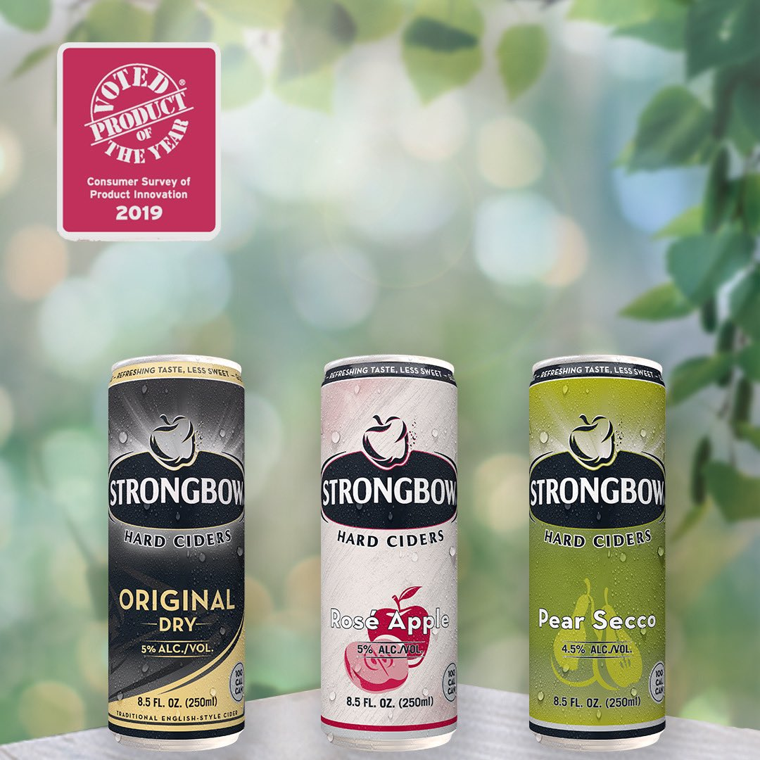 Our new 100 cal slim cans have won 2019 Product of the year in the alcoholic beverage category! #winning https://t.co/LjvyvndyDp