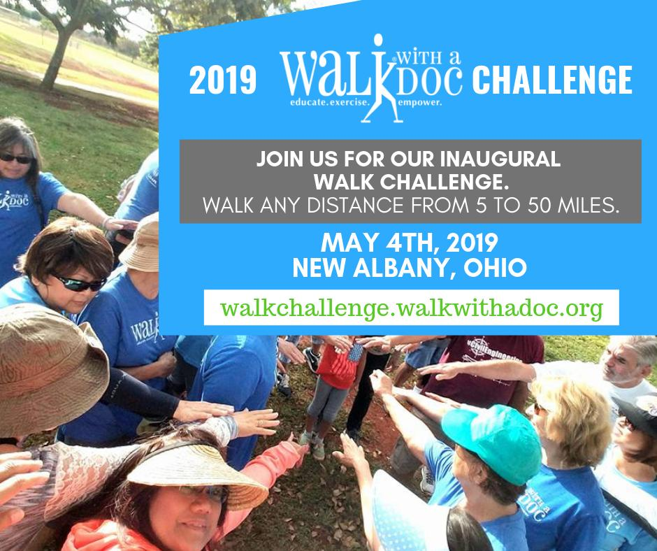 Sign up now so that you don't have to do it later! https://walkchallenge.walkwithadoc.org/