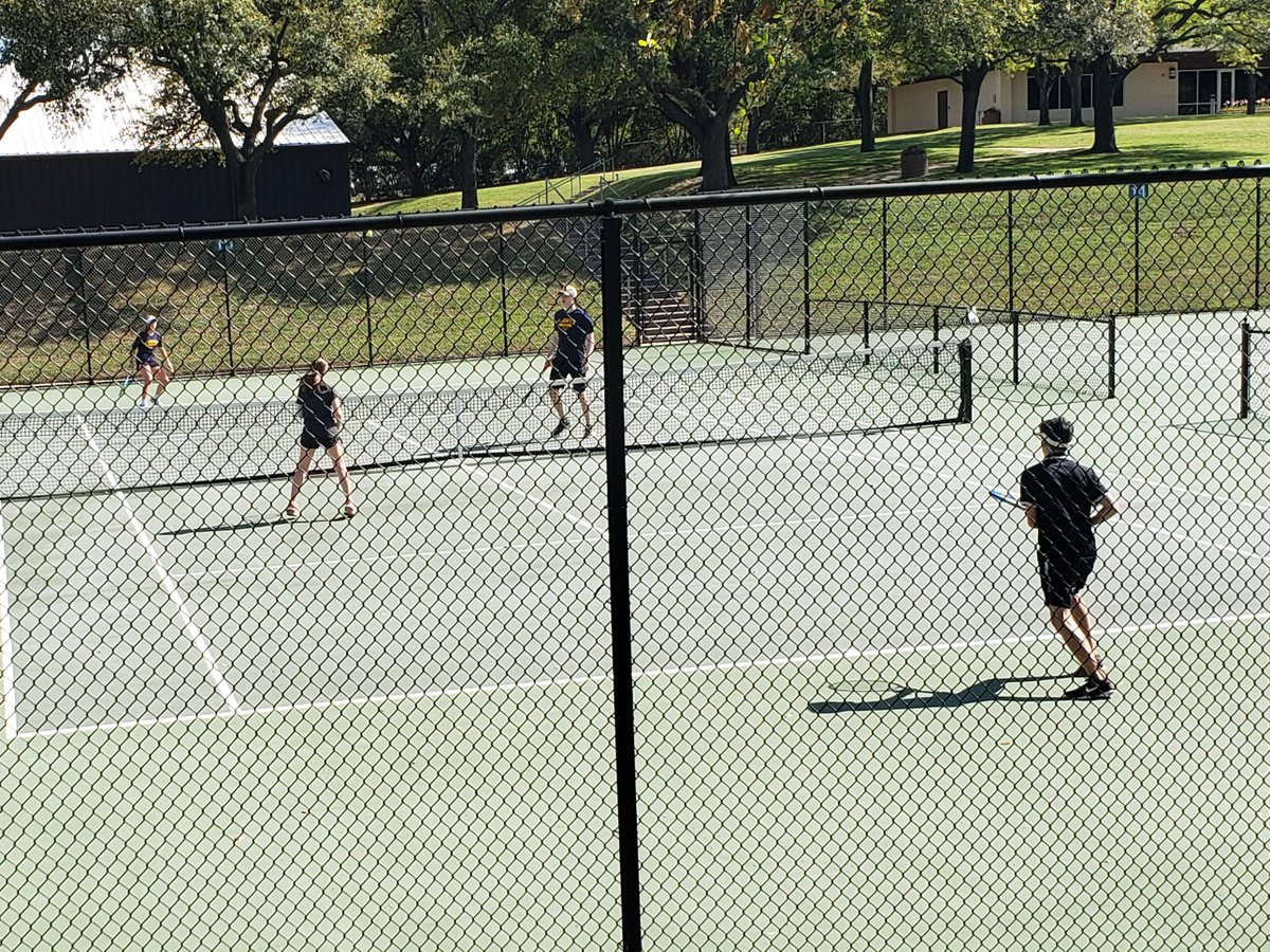 2019 Fort Worth ISD District 6-5A Tennis tournament at TCU! The teams are competing hard! @fwisdathletics