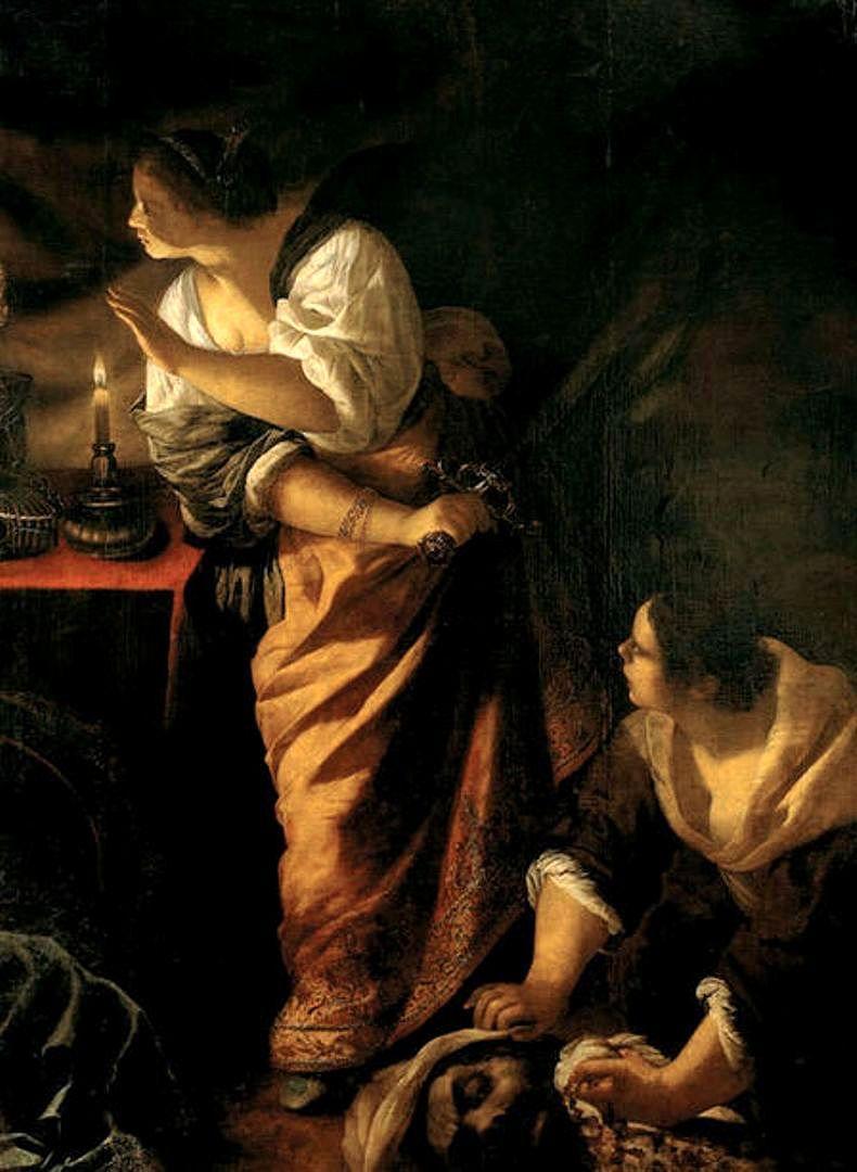 #GiudittaELaSuaAncella #JudithEtSaServante #JudithAndHerMaidservant (entre 1640 et 1650) #ArtemisiaGentileschi #Caravagiste #OlioSuTela #ArteReligiosa #Barocco #MuséeDeLaCastre #Cannes #France