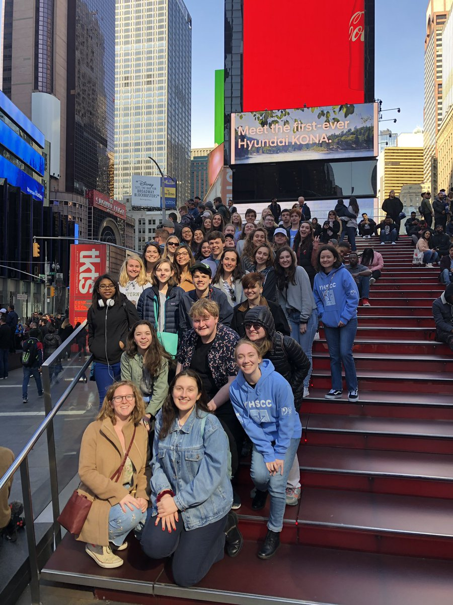 "We are here! NY, NY! it's a wonderful town! 🎶 Competing tomorrow morning at 10:30am from Riverside Church! Watch us LIVE on our Facebook page ""Yorktown HS Choral Program"" 🍎 <a target='_blank' href='http://twitter.com/Principal_YHS'>@Principal_YHS</a> <a target='_blank' href='http://twitter.com/YorktownHS'>@YorktownHS</a> <a target='_blank' href='http://twitter.com/APSArts'>@APSArts</a> <a target='_blank' href='https://t.co/IISjFfOEQB'>https://t.co/IISjFfOEQB</a>"