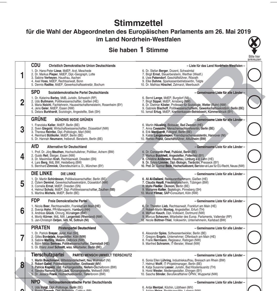 Sandra Luck On Twitter Muster Wahlzettel Zur Europawahl2019 Am 26 Mai Mitgefuhlwahlen Tierschutzpartei Eu Europawahl Europa Tierschutz Animalpoliticseu Gehtwaehlen Https T Co 0wowkb5gkw