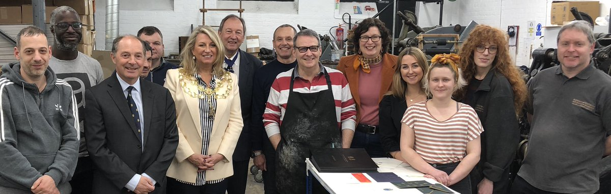 It was an absolute pleasure showing the #lordmayorofwestminster and her consort around our print workshop and bookbindery this week! . . . #specialvisit #vip #factorytour #bespokestationery #bookbinding #printing #welcometoourworld #wearethemakers https://t.co/pQBSubRgyM