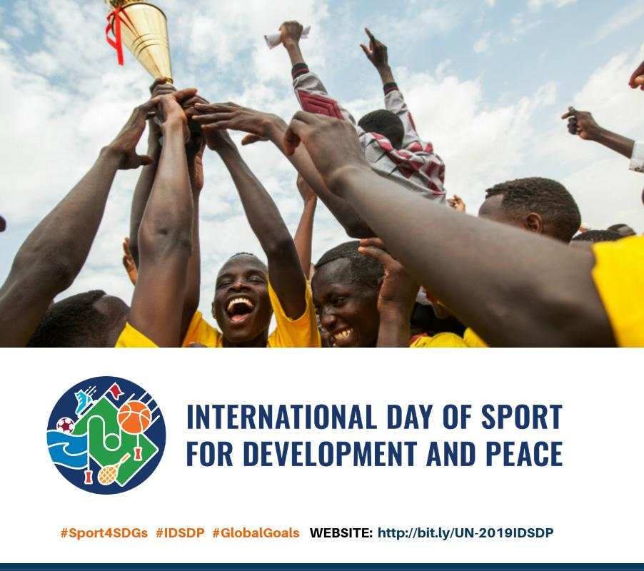 Happy Int'l day for Sport, Development & Peace!⚽🏀🏈⚾  Sport as a universal language can be a powerful tool to promote peace, tolerance & understanding by bringing pple together across boundaries, cultures & religions.  http://bit.ly/UN-2019IDSDP #Sport4SDGs #IDSDP #GlobalGoals