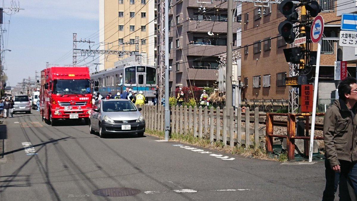 小田急江ノ島線の桜ヶ丘駅~高座渋谷駅間で人身事故の現場画像
