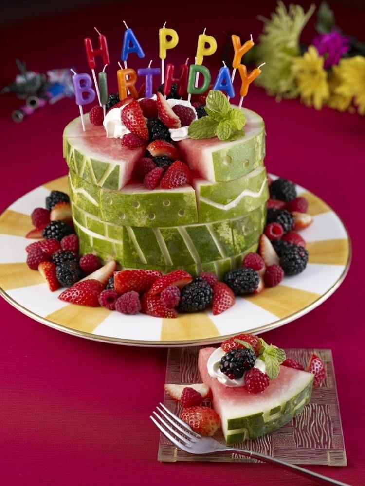 Поздравительную, открытка с днем рождения с фруктами