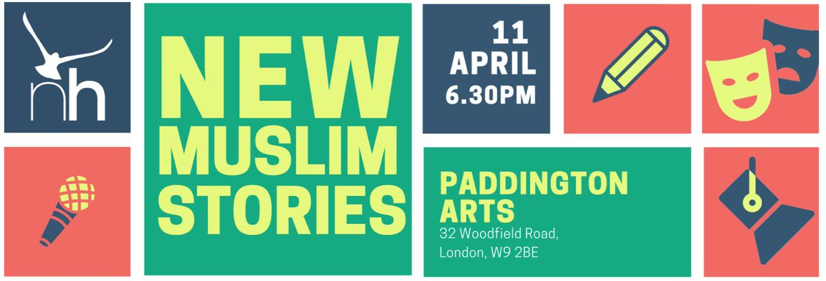 For the past year, we've been holding workshops and mentoring sessions for a collective of emerging poets and playwrights.  And now they're ready to showcase their works-in-progress.   Come and support fresh British Muslim talent!  https://buff.ly/2UAXcO2