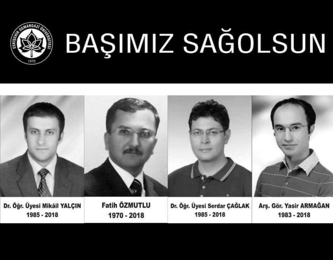 Onlar eğitim ordusunun neferleriydi. Aşağılık bir katil tarafından katledildiler. Aramızdan ayrılışlarının seneyi devriyesinde rahmetle anıyorum.   #Serdarçağlak #Yasirarmağan #Mikailyalçın  #Fatihözmutlu  Ruhunuz şad olsun. #Unutmadık #Unutmayacağız  #OGÜ