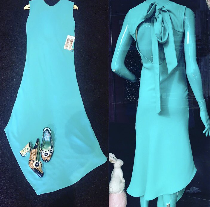 Gorgeous Ocean Aqua Petit Ami Gold Smocked Girl Dress Boutique Angel Sleeve
