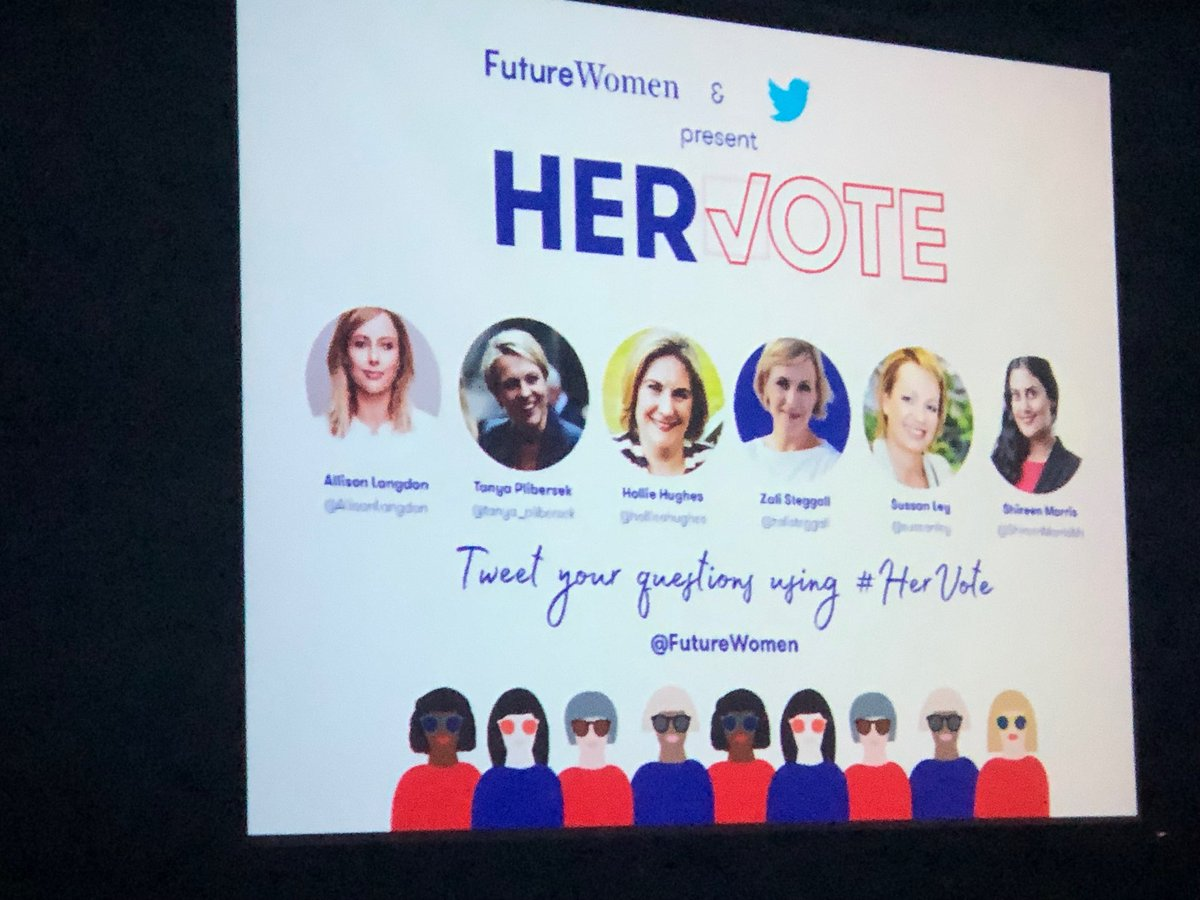 Excited to be at #Hervote to hear about women in our national political leadership @futurewomen_