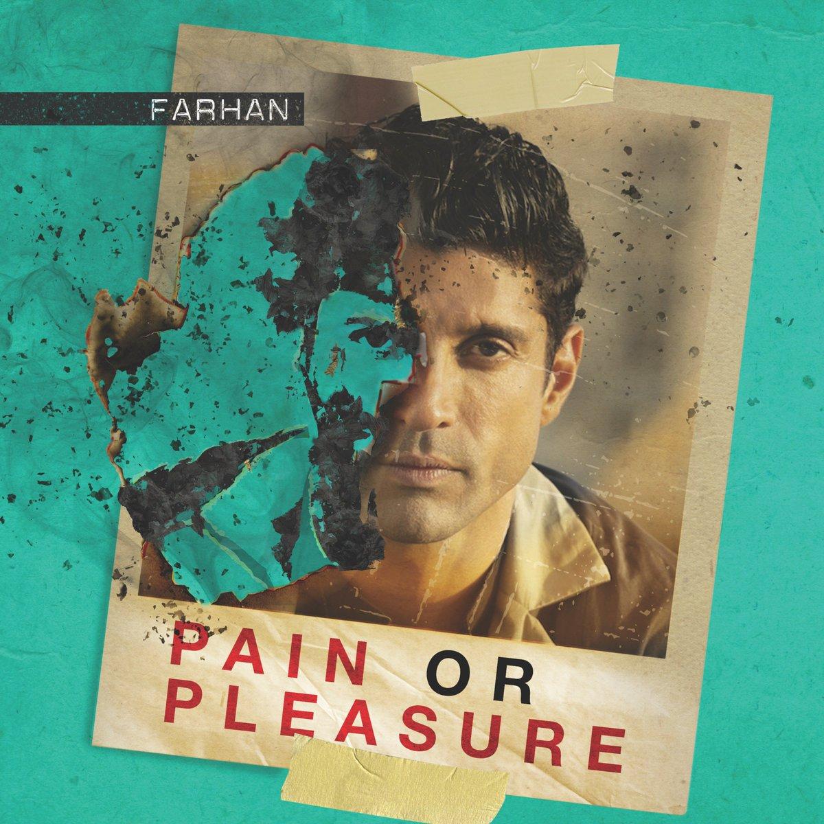 Choose wisely 😉 #PainOrPleasure. Listen to #FarhanAkhtar's new single here https://spoti.fi/PainOrPleasure