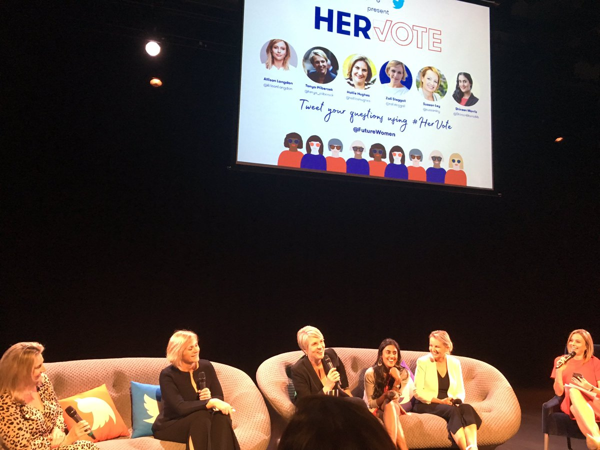 Thanks @FutureWomen and @TwitterAU for a genuinely uplifting evening! #HerVote