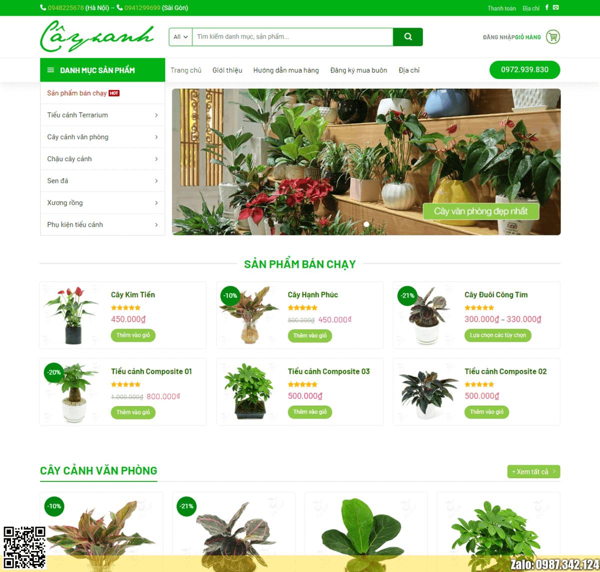 Mẫu web bán cây xanh, cây cảnh thumbnail