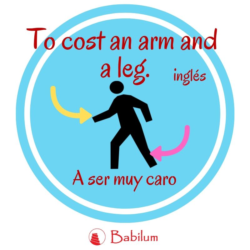 Una frase hecha inglesa: To cost an arm and a leg. 💪👖 🤑   #idiom #caro #english #ingles