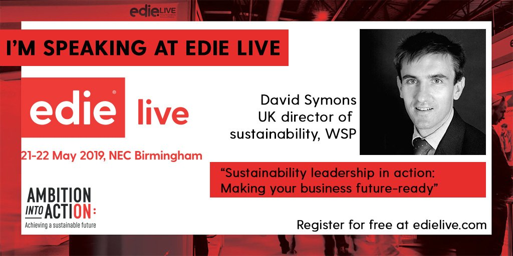 @DavidSymons is at #edielive2019 in the Sustainability Keynote Theatre!   Register for free: https://goo.gl/5UXVa5    #ambitionintoaction #missionpossible
