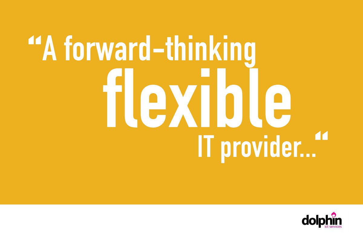 Flexibility is one of our main USPs and we pride ourselves on meeting the needs of our customers. Get in touch to find out more!  #ITsolutions