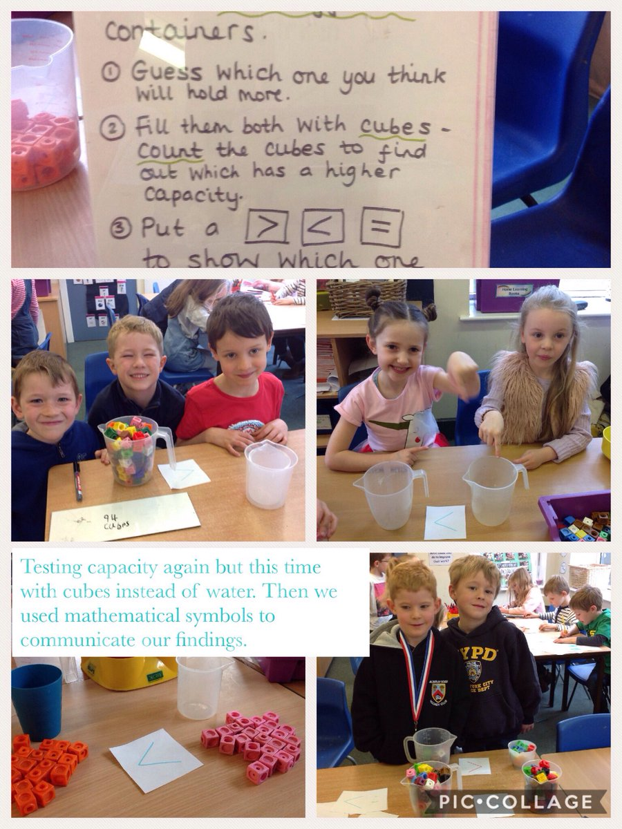 test Twitter Media - More capacity investigating, this time using cubes instead of water. We used mathematical symbols to communicate our findings. #gorseymaths https://t.co/fyeqKPPVZn