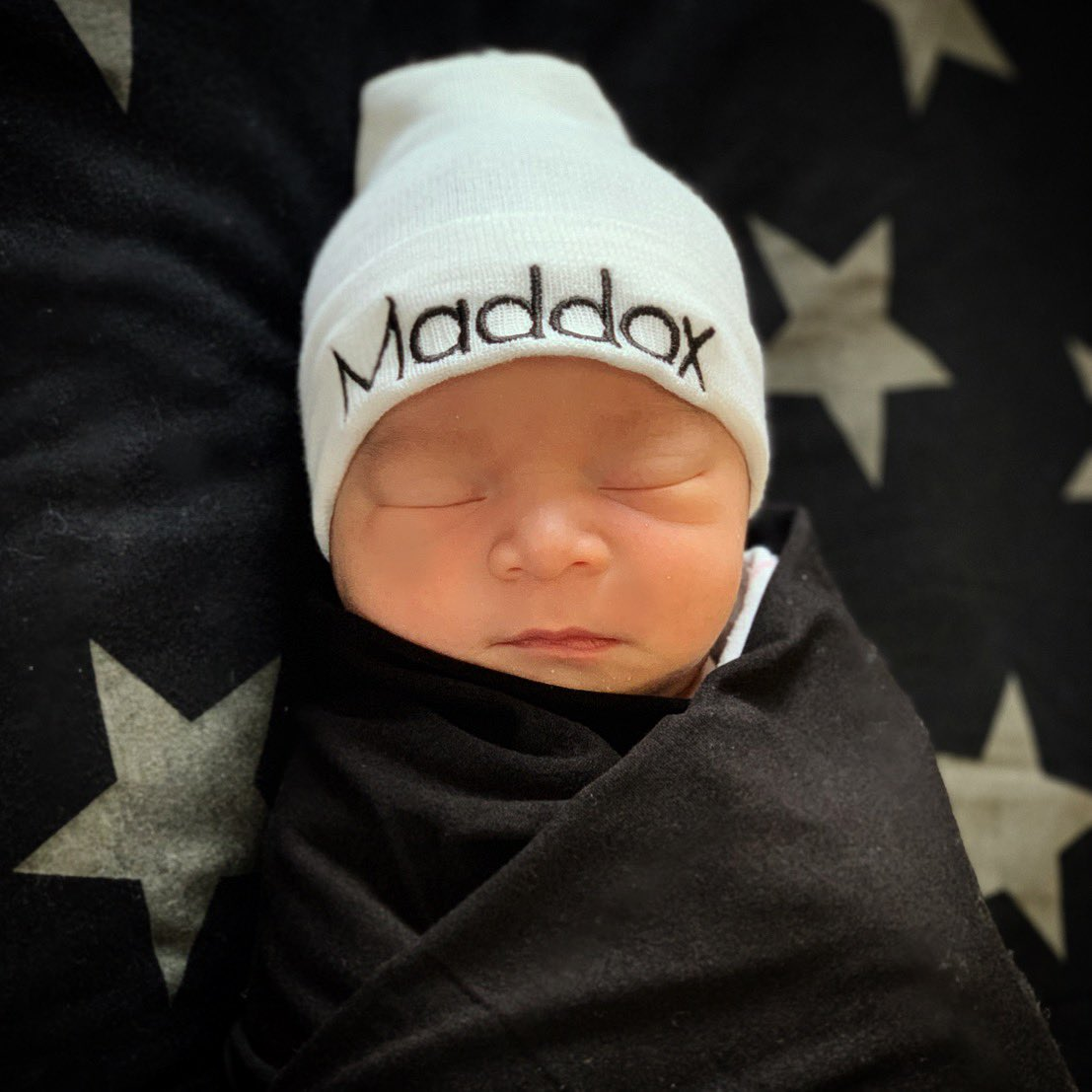 Maddox Jayden Jones... born at 2:26am this morning weighing 7lbs 8oz and 20.5in long. Wifey and baby are both healthy as can be and loving every second. 🙏🏾🙌🏾
