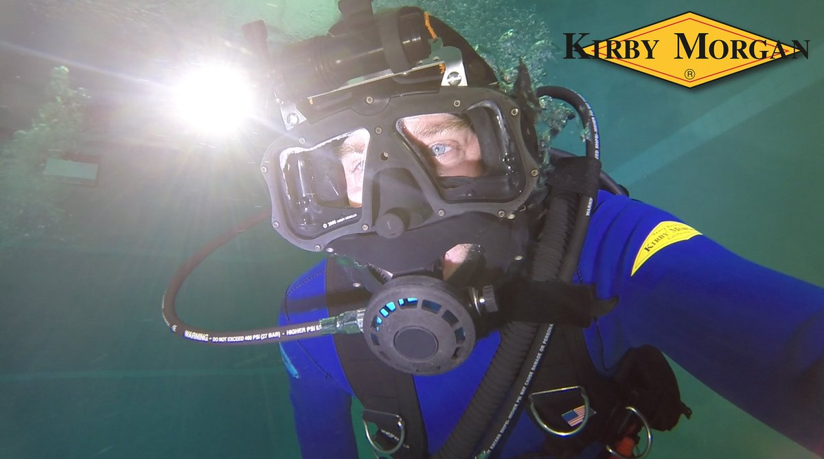 Kirby Morgan M-48 MOD-1 modular full face mask. Allows the diver to remove the attached POD and regulator and receive alternate safe seconds without removing the mask underwater. It is modular.  https://www.kirbymorgan.com/products/full-face-masks/m-48-mod-1…