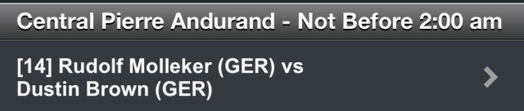 @DreddyTennis facing fellow countryman Rudolf Molleker tomorrow NBF 2pm in his semifinal