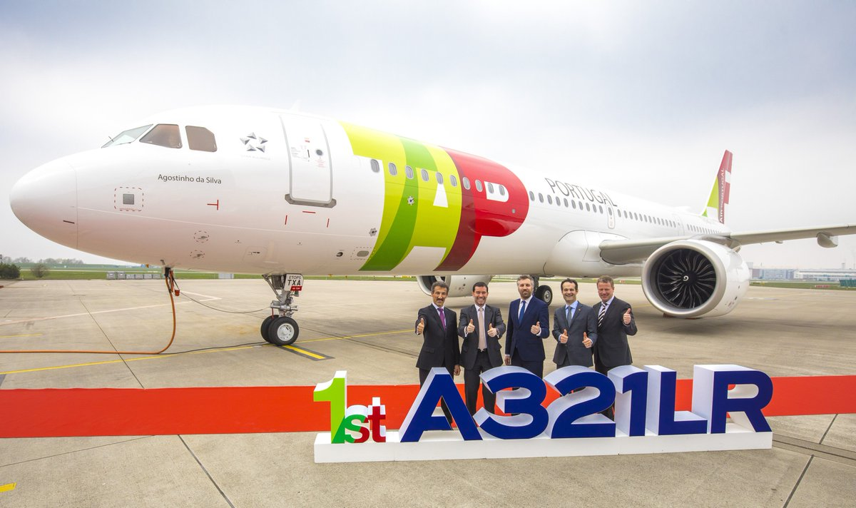 .@TAPAirPortugal takes delivery of its 1st #A321LR. http://bit.ly/TAPA321LR
