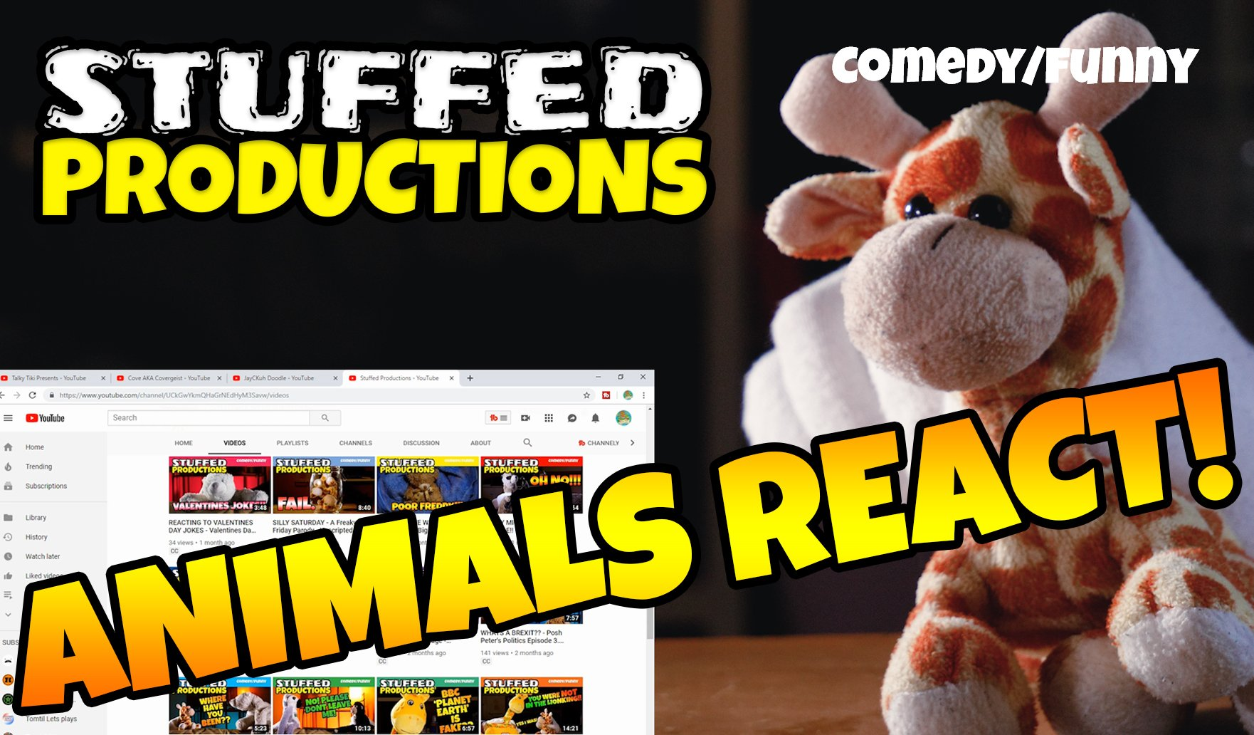 Youtube Stuffed Animals, Youtube Com C Stuffedproductions On Twitter Stuffed Animals React To Tikitalky Review Of Our Youtube Channel Https T Co Gpnjhrofzw Review Reaction React Reacting Animalsreact Channelreview Smallyoutuber Supportindiefilm Indie Youtube
