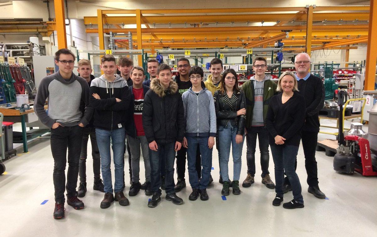 🏭Visite des élèves de 2nde bac pro EDPI (étude et définition de produits industriels) du lycée Jules Verne de #ChâteauThierry pour découvir @Altifort -…