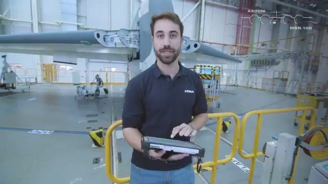 🎥New episode of the 💯th  #A400M production story.  We are at Station 50 in the Airbus final assembly facility in Seville 🇪🇸 where tasks are focused on the alignment of the tailplanes using digital tools.  #BehindTheScenes Follow the story:  https://www.airbus.com/production100thA400M.html …