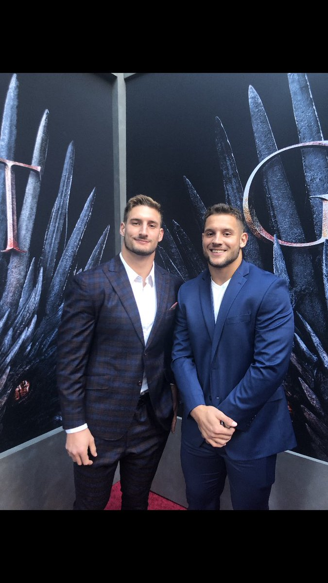 Repping House Strahan at the @gameofthrones premier tonight. Shop my @MbyMStrahan suit at @jcpenney #RaiseYourGame #ad