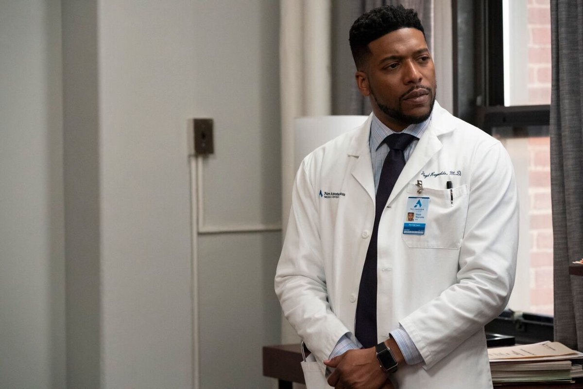 """It's official! The new """"Mc"""" name for Dr. Reynolds is """"McSwagger,"""" courtesy of @PatrickVescio and Diana Sikes, our hair department head. Now let's get that hashtag going for the rest of the season on @NBCNewAmsterdam! We're back this Tuesday on @nbc! #NewAmsterdam #McSwagger"""