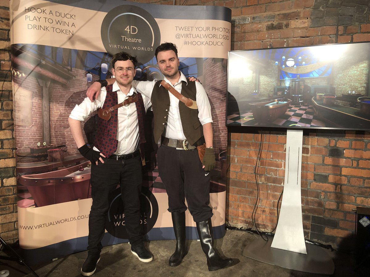 Our @virtualworlds3D steampunk boys at @kbbreviewawards. Thanks for the all the smiles you created.  Successfully mixing VR and alcohol since KBB 2017! 😜  #kbbawards19 #vw4d