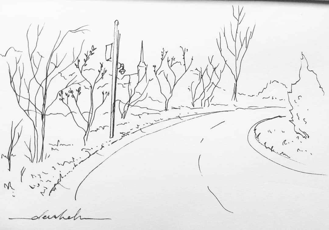 Pathway #dailyart #dailyillustration #landscape #scenery #trees #nature #road https://t.co/tFCvwfz8Rc