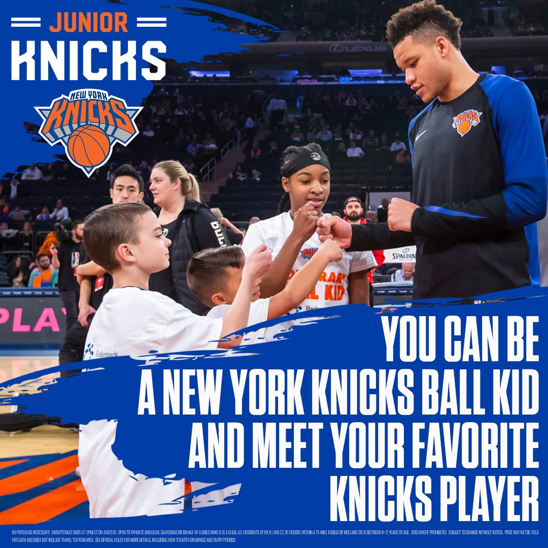 Last one for the season 😎 Visit http://Knicks.com/ballkid for details and good luck #HappyFriday #JrKnicks