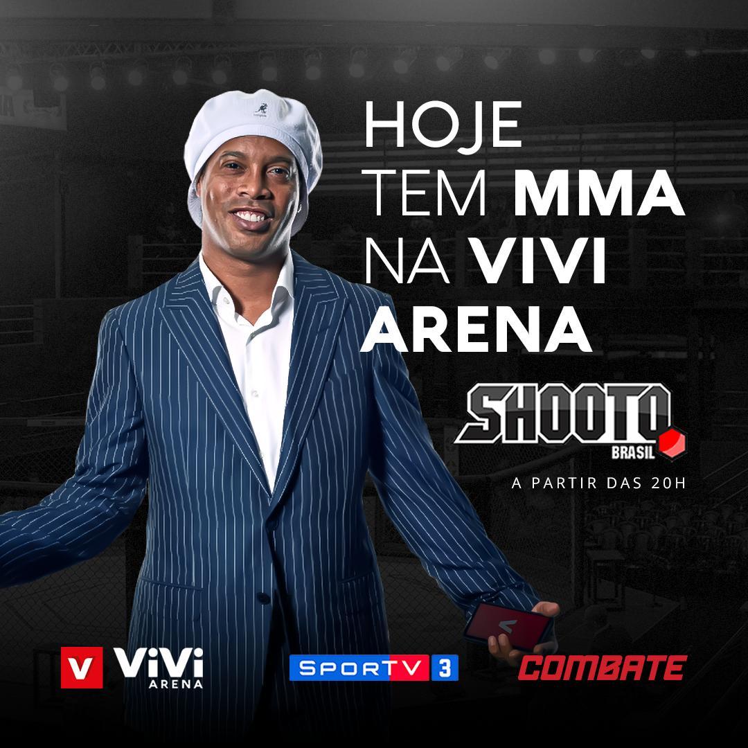 Fala galera! Hoje tem @shootobrasilmma na ViVi Arena a partir das 20h, você pode assistir ao vivo nos canais @SporTV 3 e no @canalCombate ! Eu não perco por nada 🤙🏾 #ViviPay