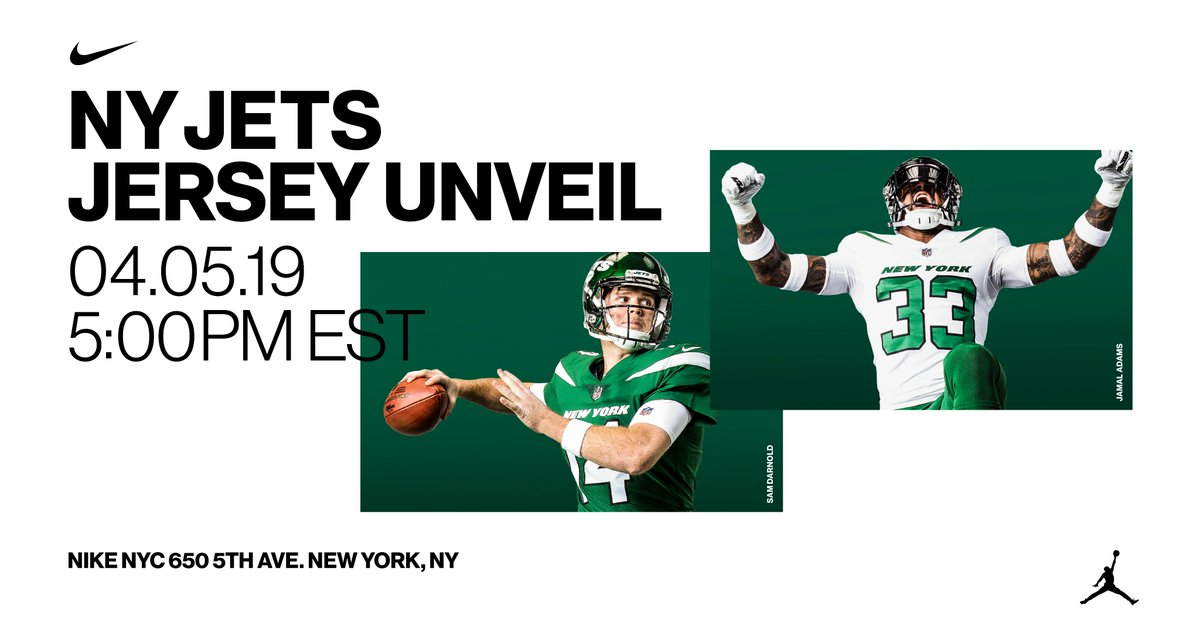 0307d48184e ... Nike NYC with Sam Darnold and Jamal Adams. 650 Fifth Avenue. 5PM. Get  the jersey here: https://store.nike.com/us/en_us/pw/new-york-jets/8qlZb6k …  ...