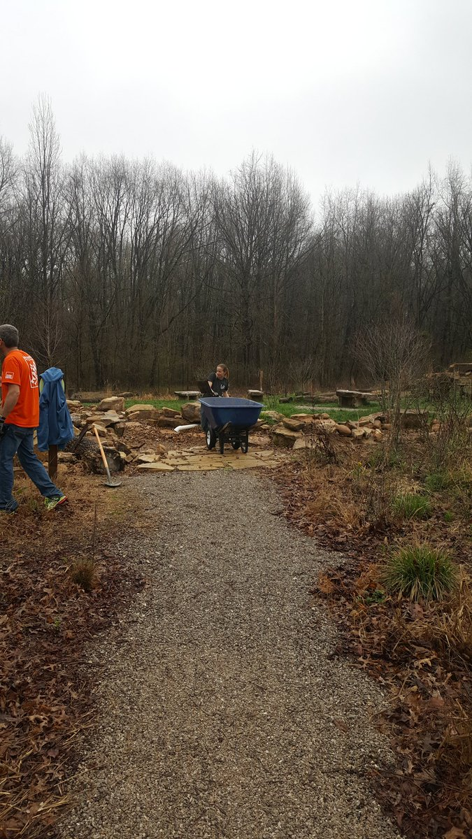 Westside Home Depot On Twitter East West Came Together Today To Work At Wesselmanwoods Throwin Mulch Haulin Rocks At The Nature Playscape Wonderful Job Team Shout Out To Shelby
