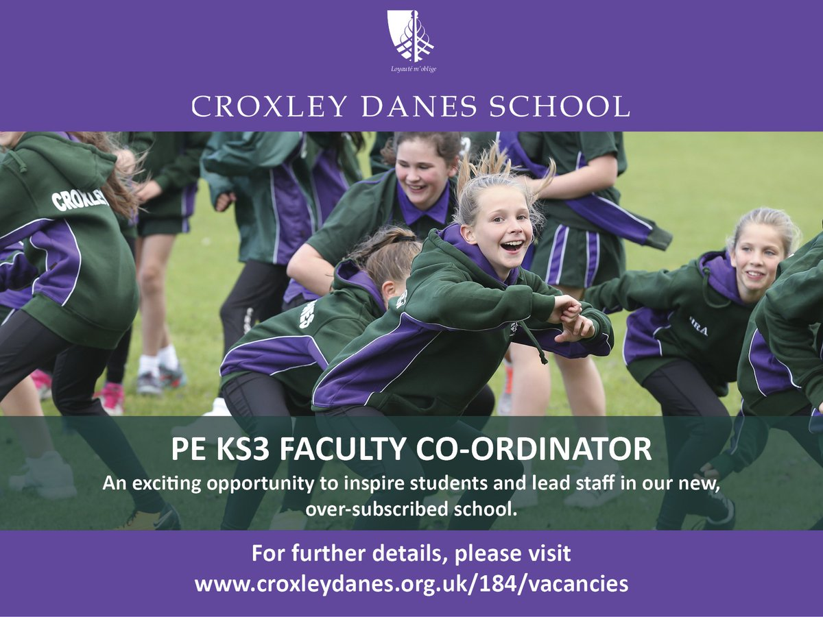 Ready to lead KS3 PE in a new, oversubscribed school in Hertfordshire? Come and work with our fantastic students and be part of a great staff team. Details: https://t.co/0f07RRcSmI #teachingvacancyuk https://t.co/m1XXRGNYzl
