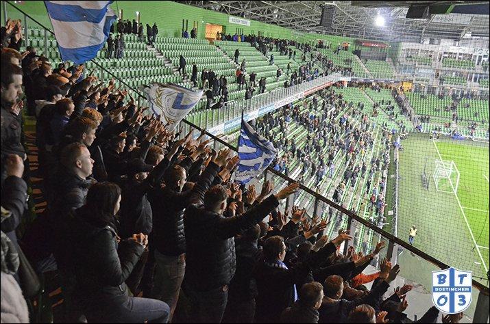 Uitsupporters Eredivisie:  Vitesse - AZ: 122 Heracles - Willem II: 474 FC Groningen - De Graafschap: 270 (foto) VVV Venlo - FC Utrecht: 104 Excelsior - NAC Breda: 400 (uvk) Fortuna Sittard - ADO Den Haag: 249 FC Emmen - Ajax: 375 (uvk) PSV - PEC: 109 Feyenoord - Heerenveen: 176