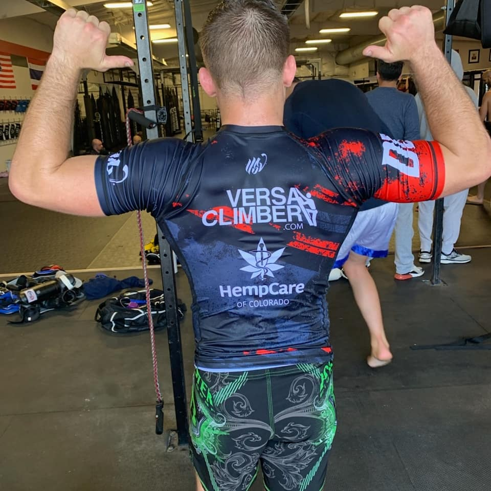 Exhausted but satisfied with the first week of fight camp. Gotta thank @versaclimber and @HempCareCO for all their help.