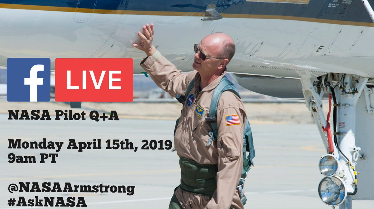 Still have questions? Join us for a LIVE Q+A on Facebook! He will be taking questions from online users and answering them live from our center. To submit a question ahead of time use #AskNASA 🗓Monday, April 15th 🕘9am PT/12 pm ET 🤔❓#AskNASA 📲💻 facebook.com/nasaarmstrong/