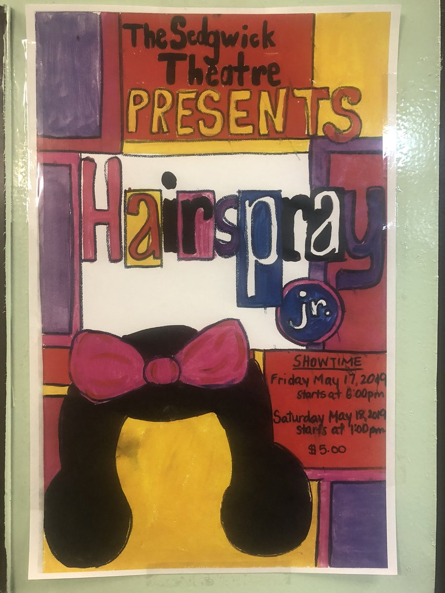 Mark your calendars: Friday May 17th @6:00pm & Saturday May 18th @1:00 PM The Sedgwick Theatre @ PS 109 Presents Hairspray Jr. the Musical @DCastillo109 @CSD9Bronx @CWATSONHARRIS @MeishaPorter @DOEChancellor @NYCSchools